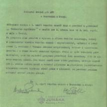1946 - dokument 1. oddílu vodních skautů