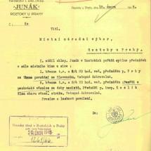 1946 - dokument I. chlapeckého oddílu
