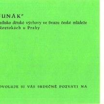1949 - pozvánka na II. junácký ples v Roztokách (strana 1)