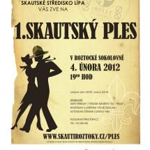 2012 - první (historicky již třetí) skautský ples v Roztokách uspořádaný u příležitosti výročí 100 let českého skautingu