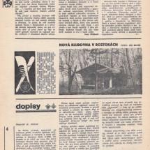 Fotografie srubu uveřejněná v časopise Junácký činovník, únor 1970
