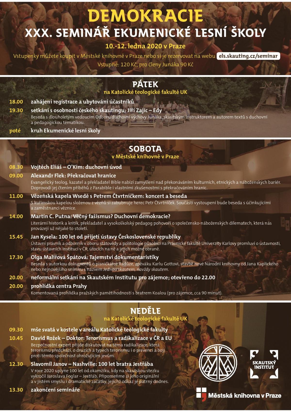 Program XXX. Semináře Ekumenické lesní školy